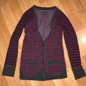Cute Scrapbook patchworked cardigan sweater